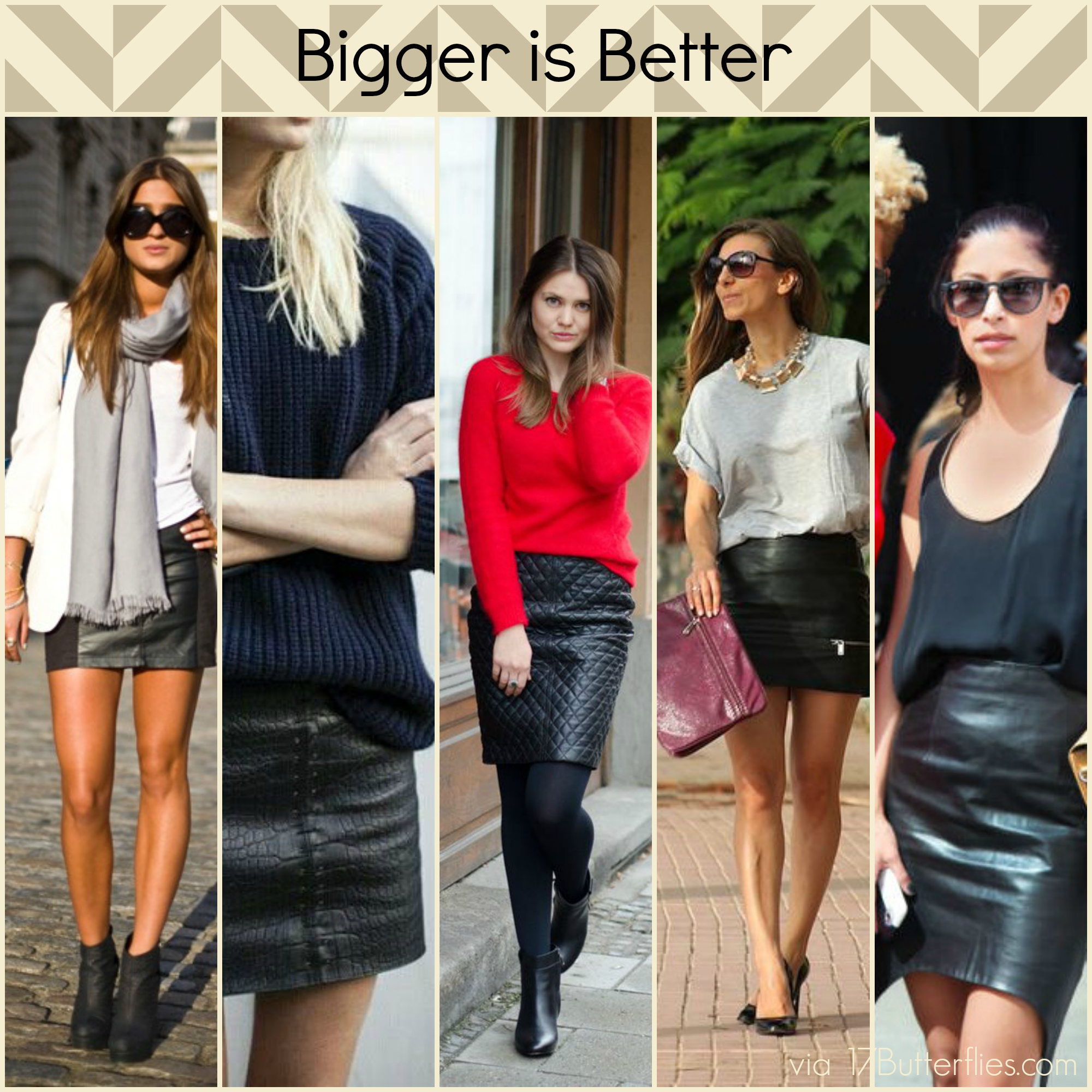What To Wear With Leather Skirt | Jill Dress