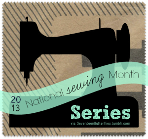 sewing month series